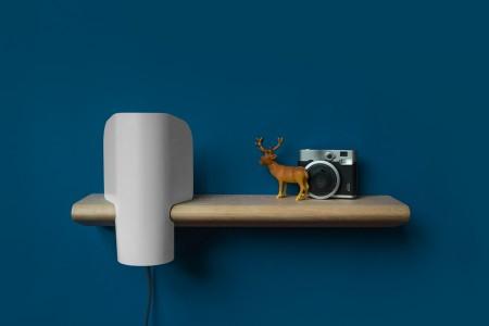 Lampe et étagère Elmer