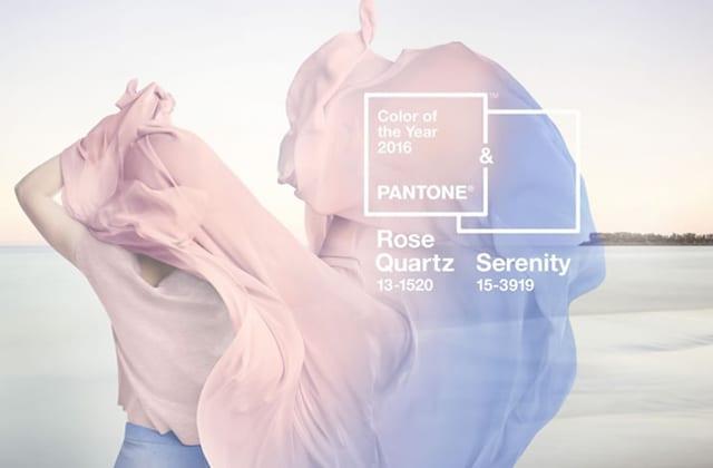 Couleurs de l'année 2016 selon le nuancier Pantone: Rose quartz & Serenity